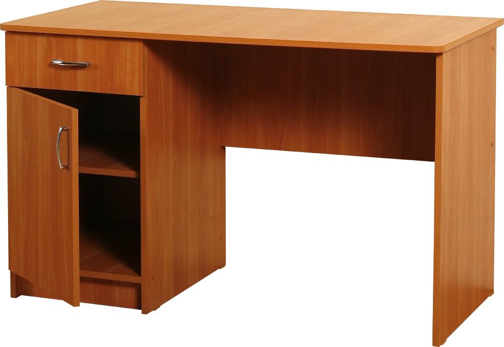 Письменный стол с ящиками и полками: однотумбовый, двухтумбо.